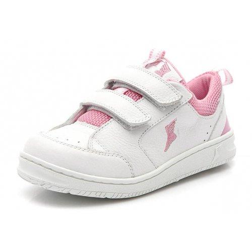 9c4cc0bb2 Tênis infantil - 1000/02 - Branco e rosa