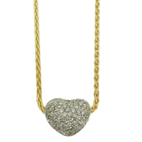 Gargantilha em Ouro 18k Coração com Brilhantes