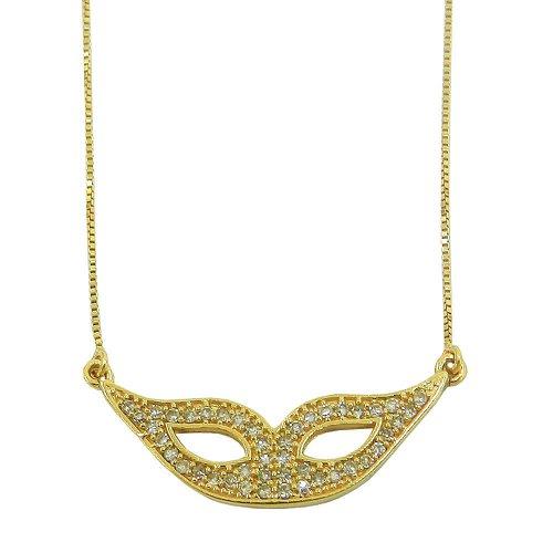 Gargantilha em Ouro 18k Mascara com Brilhantes