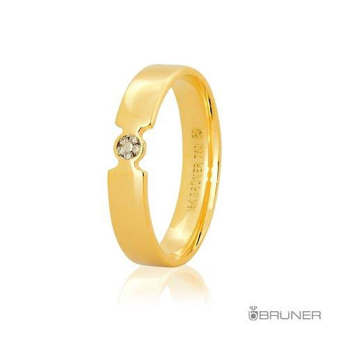 Aliança de Casamento em Ouro 18k Com Brilhante