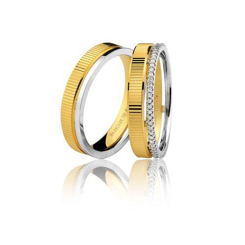 Aliança de Casamento ou Noivado em Ouro 18k