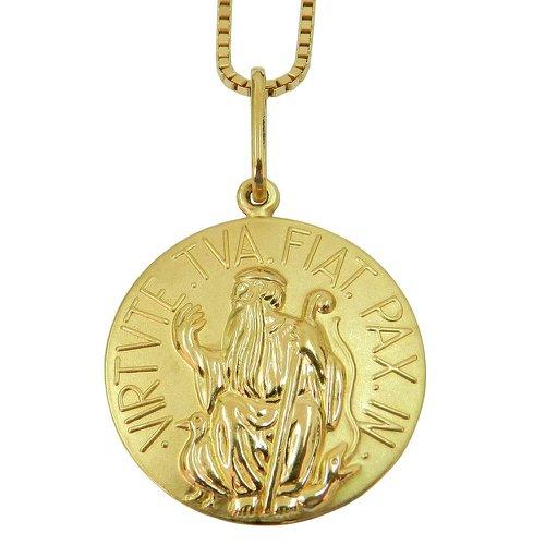 Medalha de São Bento Grande em Ouro 18k 0,750