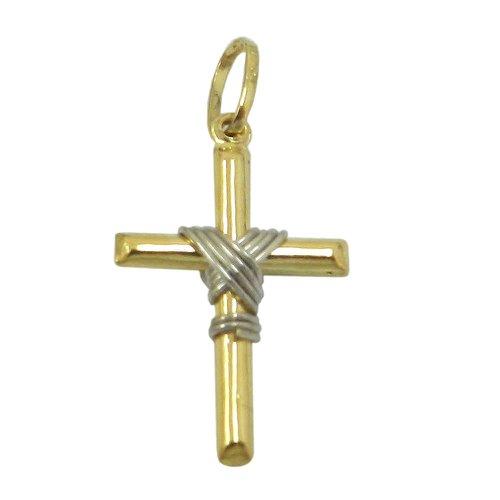 Pingente Cruz em Ouro com Nó