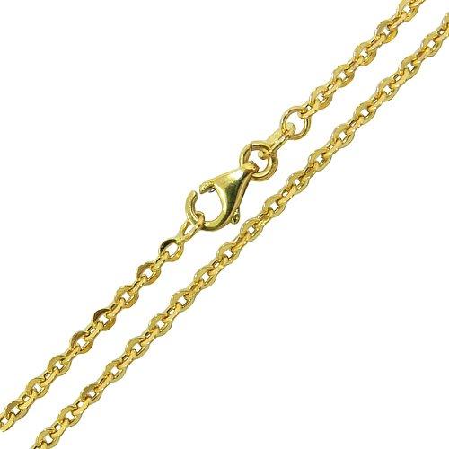 Corrente Elos Cartier Pequeno 2.0g em Ouro 18k 45cm