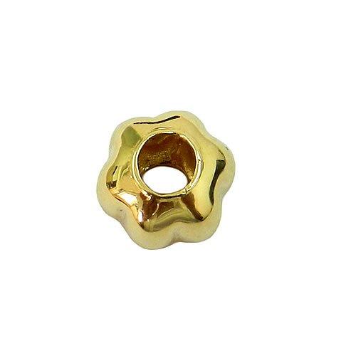 Berloque de Flor para pulseira life em Ouro 18K