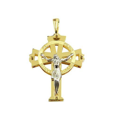 Crucifixo com Cristo em Ouro 18k
