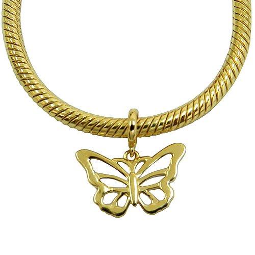 Charm de borboleta em Ouro 18k