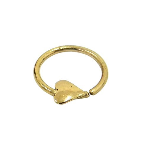Piercing em Ouro 18k Argola Coração