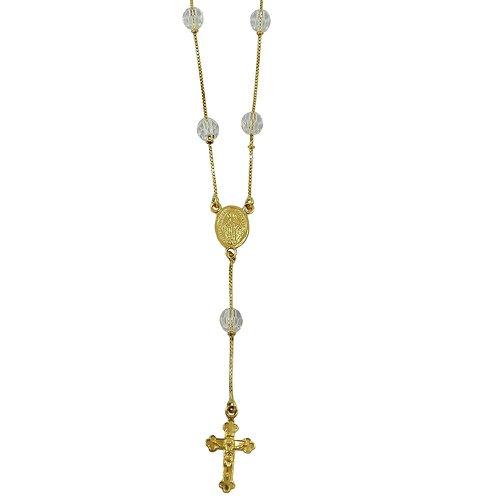 Terços Religiosos em Ouro 18k com Cristais