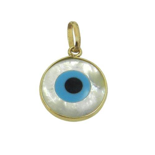Pingente Olho Grego em Ouro 18k 0,750