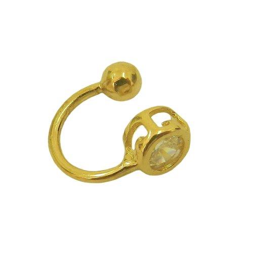 Piercing de Orelha em Ouro 18k 0,750 com Zircônia