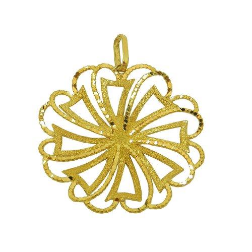 Pingente Mandala Vazado em Ouro 18k 0,750