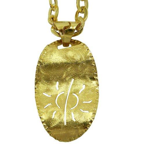 Pingente em Ouro 18k 0,750 Torcido com Sol Vazado