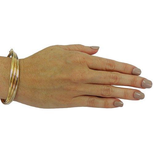 Pulseira em Ouro 18k Bracelete Tricolor