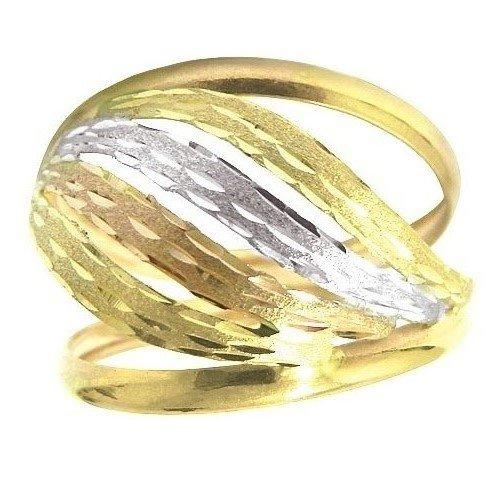Anel de ouro 18k ondulado