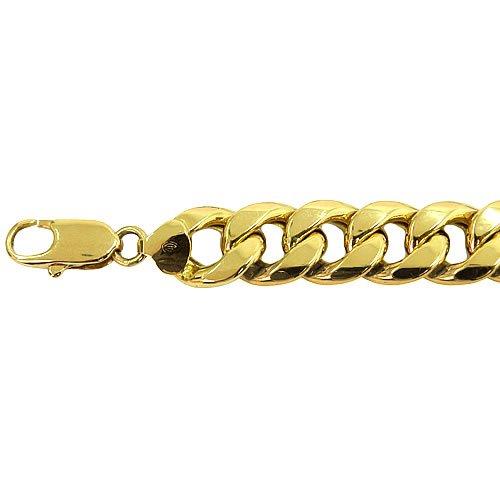 Pulseira Masculina com 21cm em Ouro 18K