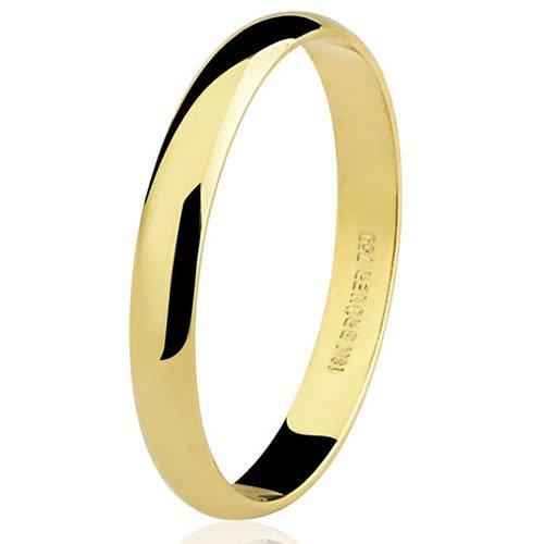 Aliança de noivado ou casamento em ouro 18K