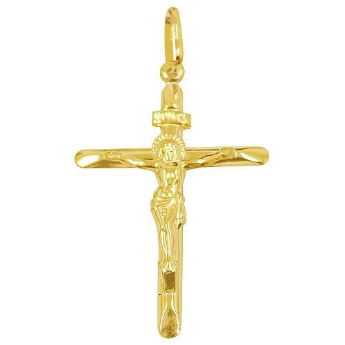 Pingente Cruz de ouro 18k Grande