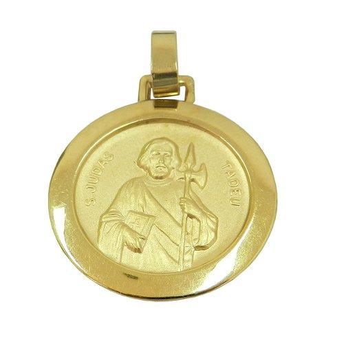 Pingente Medalha de São Judas Tadeu em Ouro 18k