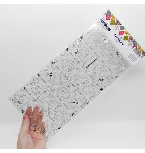 Régua de acrílico para Patchwork 30x15 cm