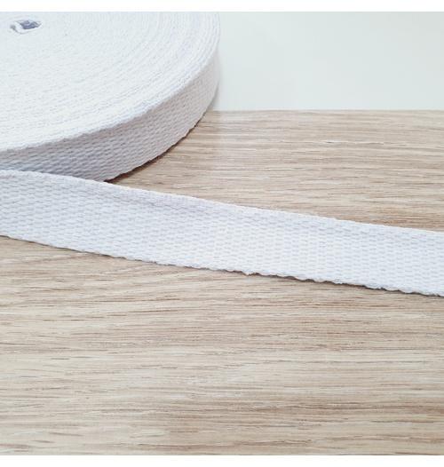 Alça de Algodão Branco 30mm (metro)
