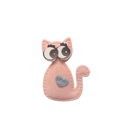 Aplique Luxo Gato Love - Rosê (pacote com 5 unidades)