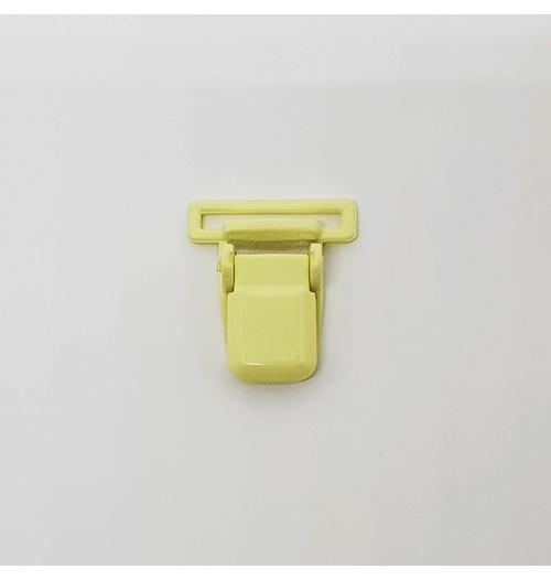 Prendedor de chupeta - Amarelo claro