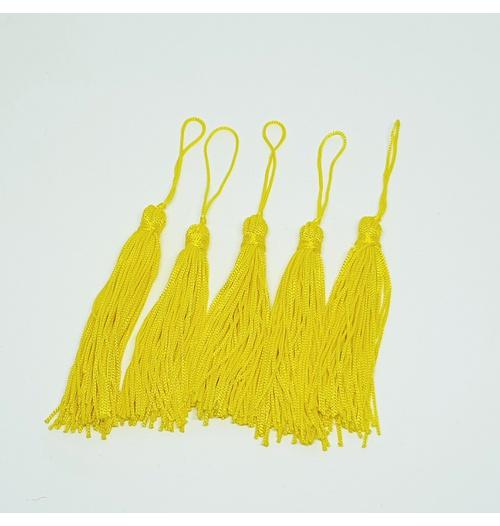 Tassel Cetim 7,5 cm - Amarelo (pcte com 5 unidades)