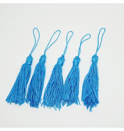 Tassel Cetim 7,5 cm - Azul (pcte com 5 unidades)