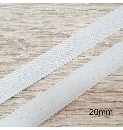 Velcro de costura branco 20mm - (metro)
