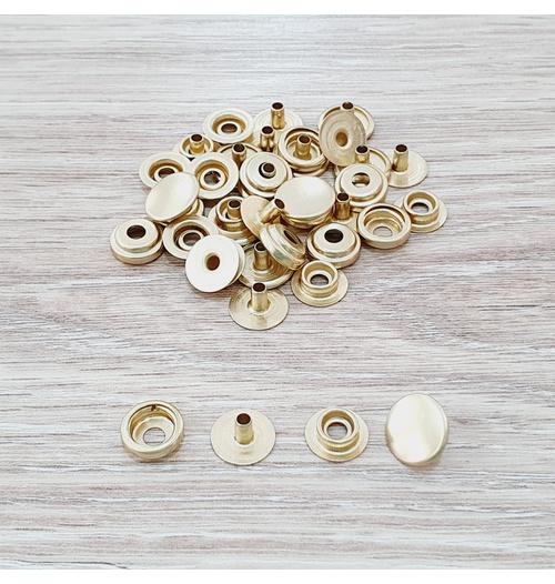 Botão de pressão /80 metal - Dourado