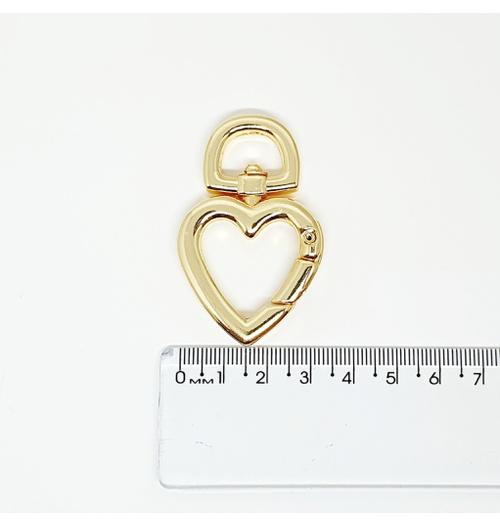 Argola articulada de coração GR - Dourada