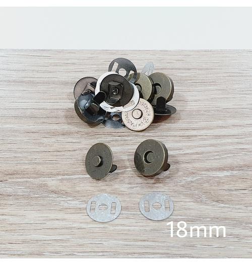 Botão de ímã SIMPLES 18mm - Ouro Velho (pacte com 5 jogos)