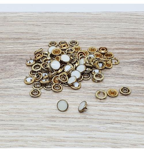 Botão de pressão 35 madrepérola - Dourado