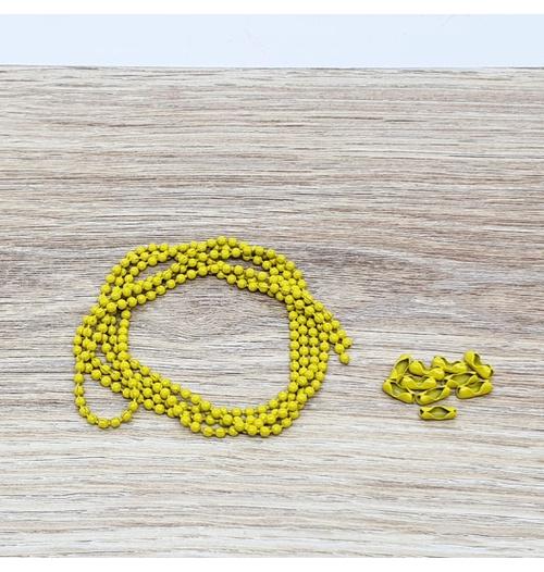 Corrente Bolinha - Amarelo (pacote com 1 metro)