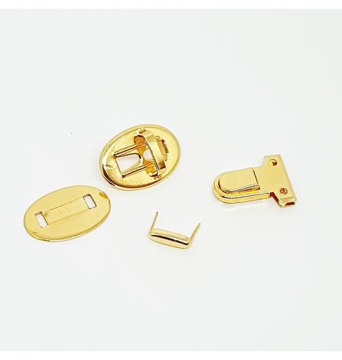 Fecho tic tac retangular Dourado (unidade)