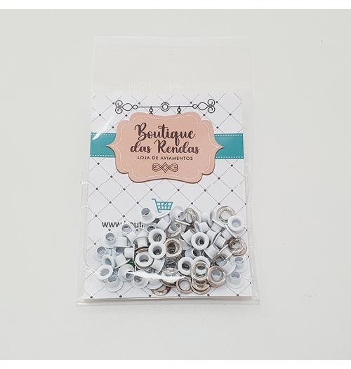 Ilhós n° 54 colorido de alumínio com arruela - Branco (pacte 50 unidades de cada)
