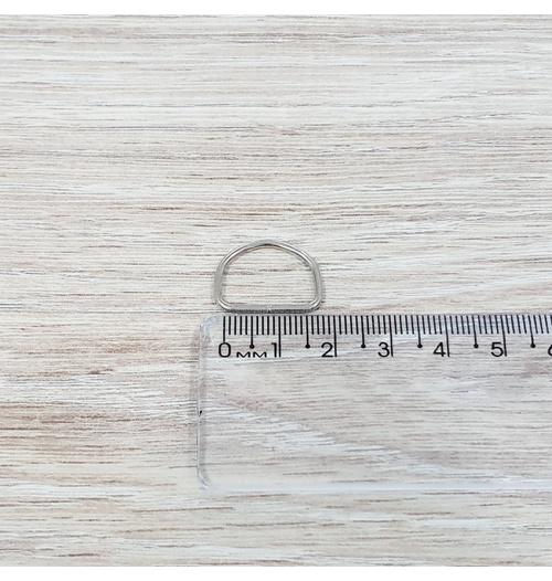 Meia argola 16mm - Niquelada (fina) (pacote com 10 unidades)