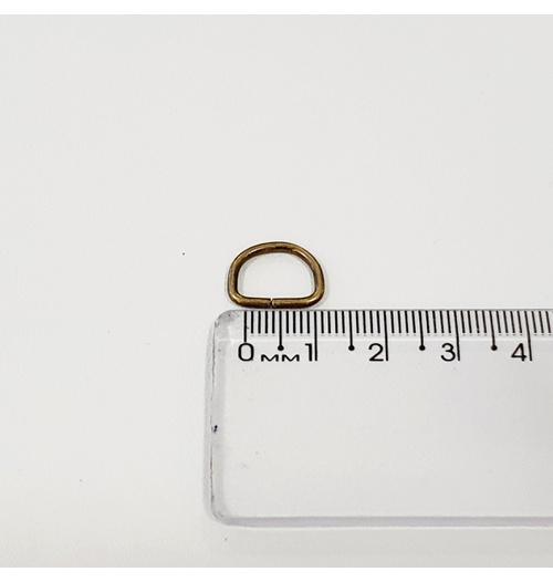 Meia argola mini para chaveiro 10mm - Ouro Velho (pacte com 10 unidades)