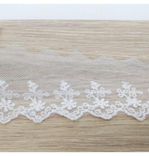 Renda de Tule R-0322 - Off white (pacte com 3 metros)