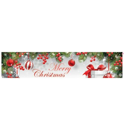 Faixa Digital de Natal Merry Christmas branco 7217 - (1 unidade)