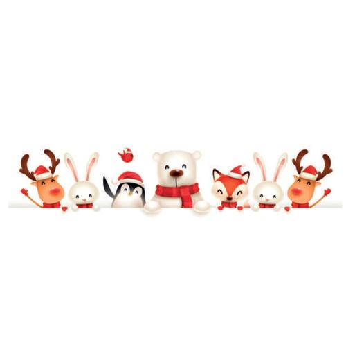 Faixa Digital de Natal Bichinhos 7220 - (1 unidade)