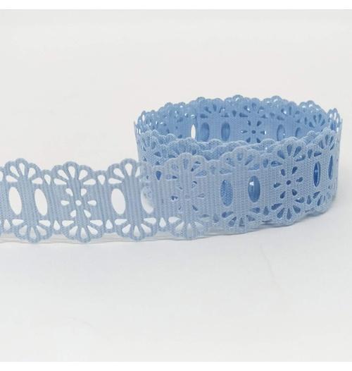 Passa-Fita Crochê 34 - Azul claro