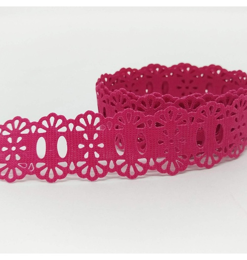 Passa-Fita Crochê 34 - Pink