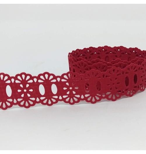 Passa-Fita Crochê 34 - Vermelho