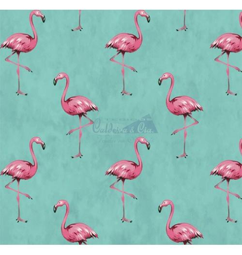 Tecido Tricoline Flamingo - Tiffany