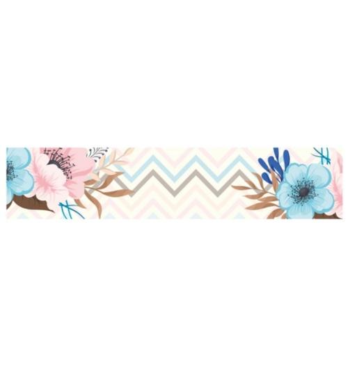 Faixa Digital Floral Chevron 7155 - (1 unidade)