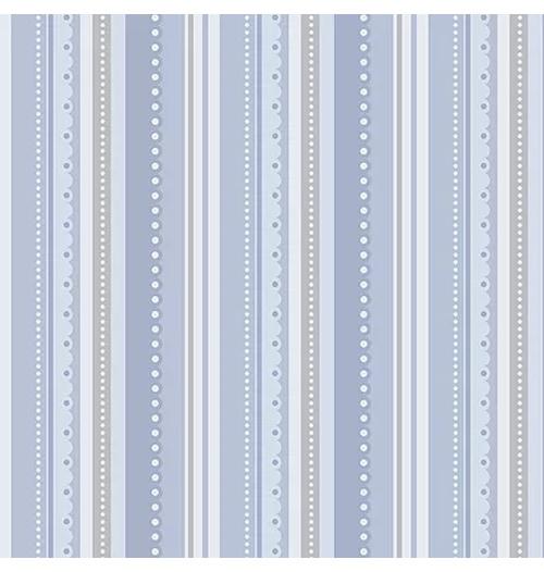 Tecido Tricoline Listrado - Azul