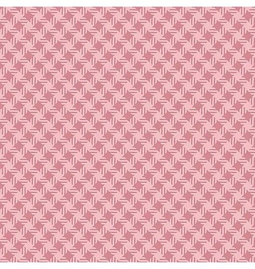Tecido Tricoline Quadradinho Rosa