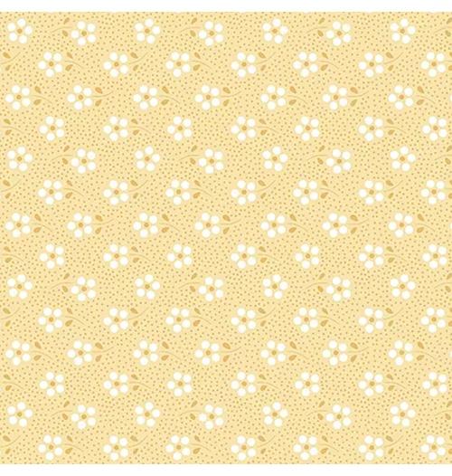 Tecido Tricoline Mini Primavera - Amarelo